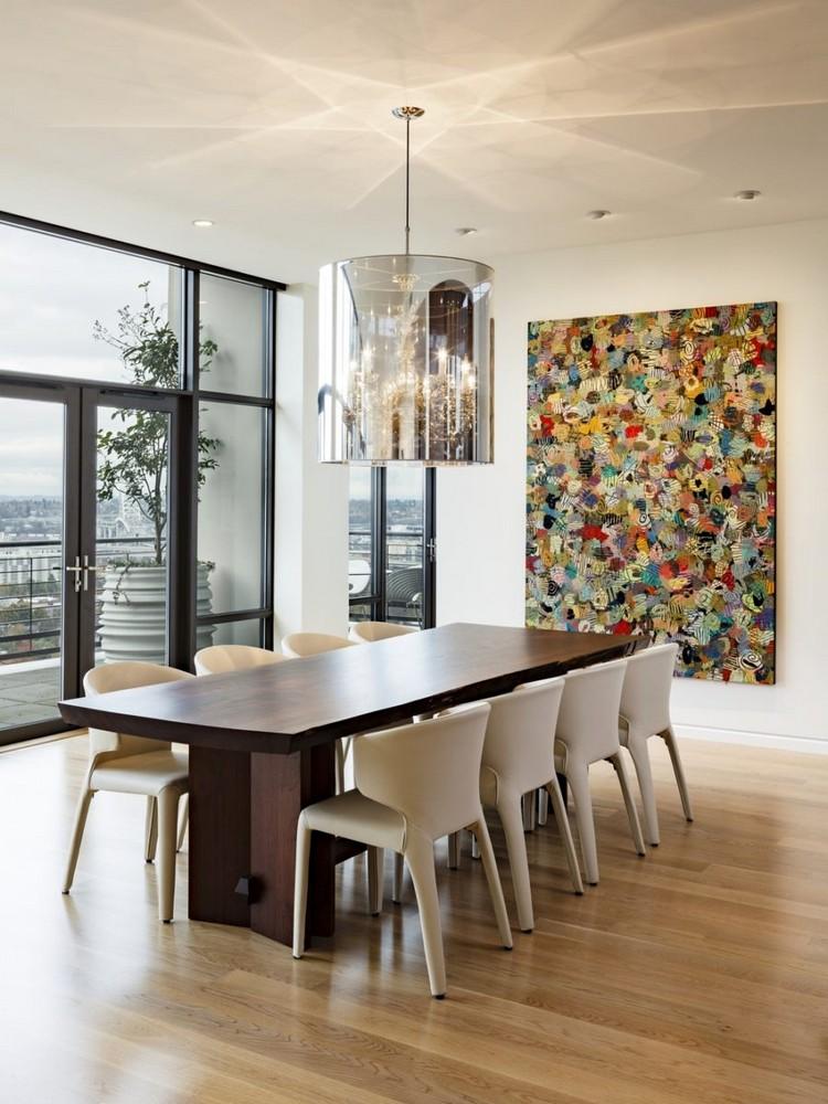 Tableau abstrait moderne pour dcorer la salle  manger