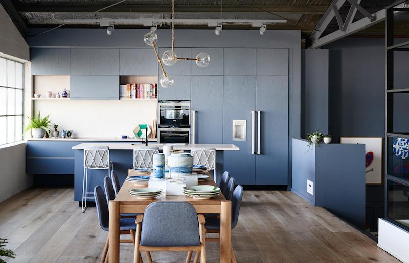 Cuisine bleu gris canard ou bleu marine  Code couleur et ides de dco
