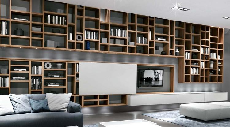 Meuble TV Bibliothque En 40 Ides Pour Organiser Le