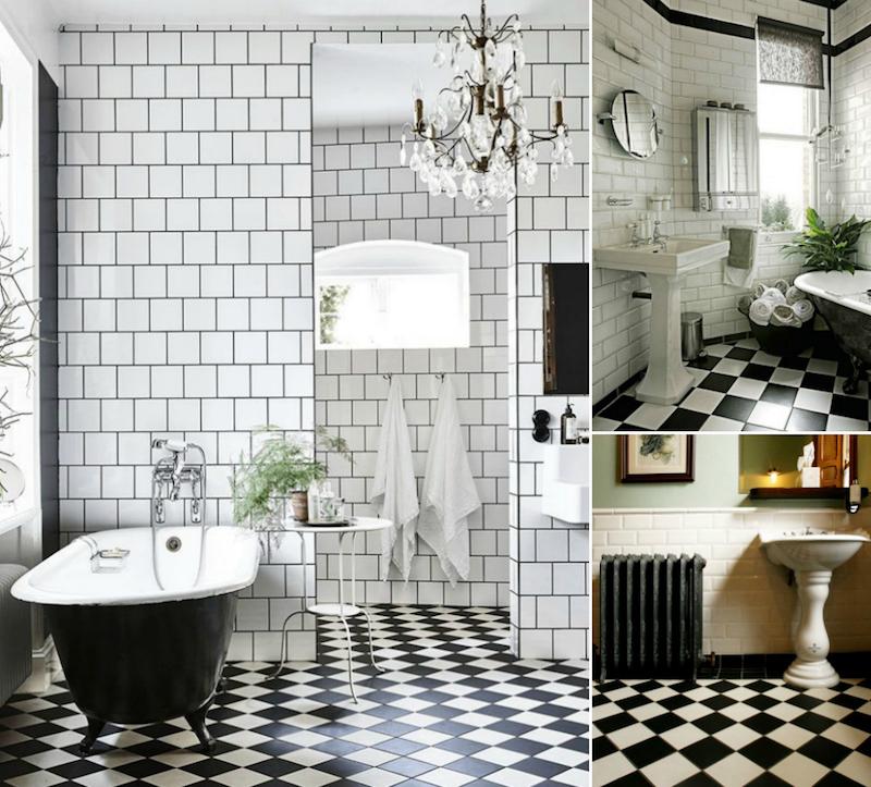 Modele Carrelage Salle De Bain Noir Et Blanc 25 Decors Ou Respire La Classe