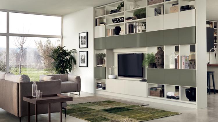Salon Vert Olive - Décoration de maison idées de design d\'intérieur ...