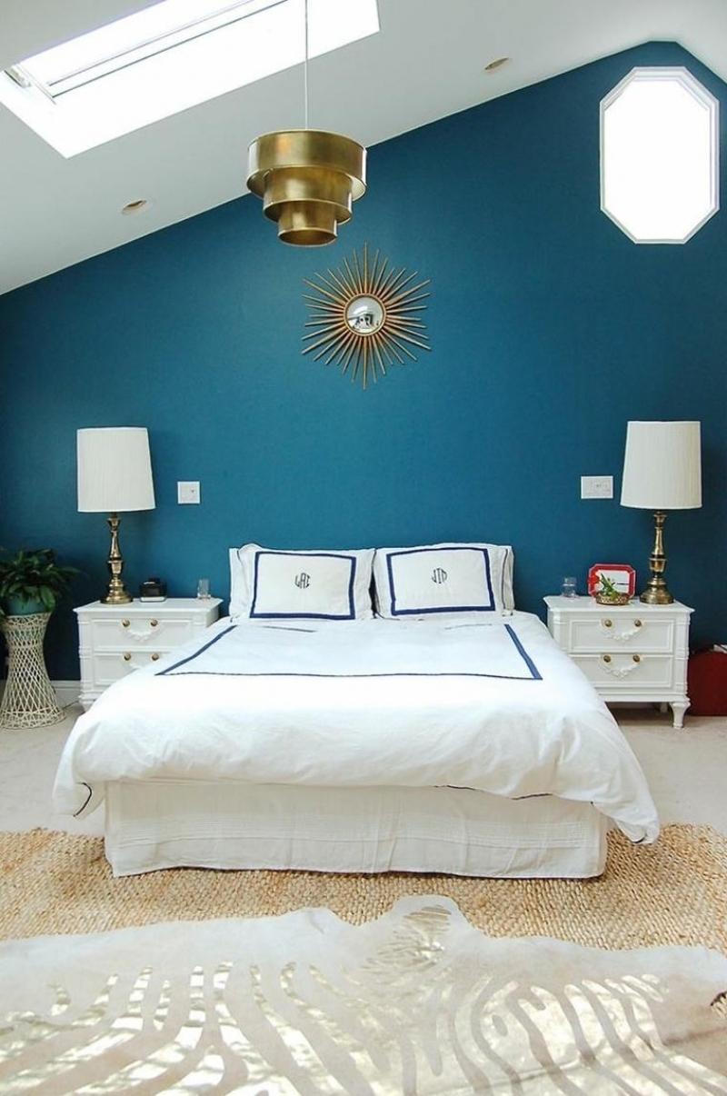 Chambre bleu canard avec quelle couleur  Accords classe et ides dco
