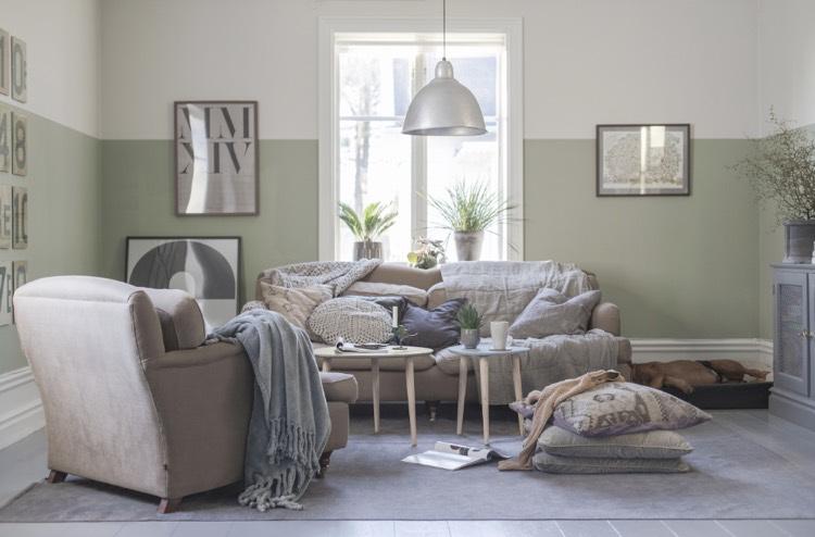 Ide dco peinture intrieur maison les murs bicolores respirent lquilibre