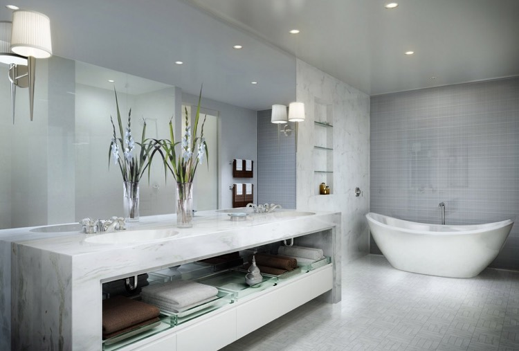 meuble salle de bain pierre naturelle