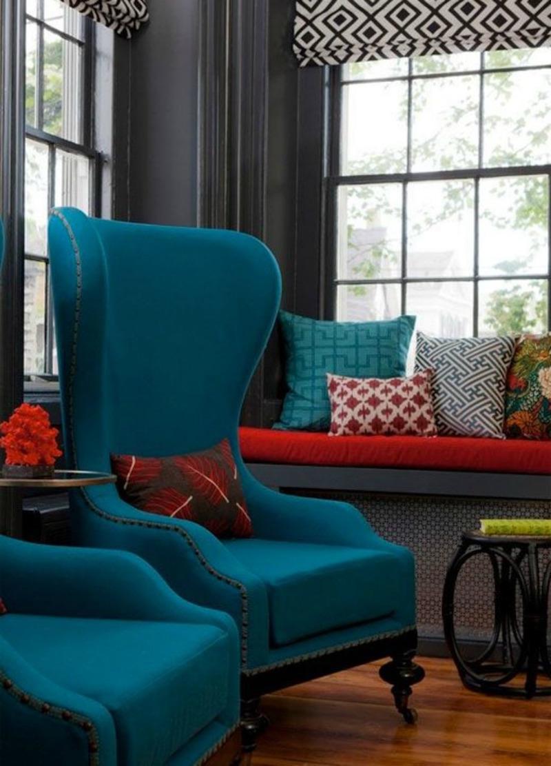 Dco bleu canard ides de peinture murale meubles et objets dco