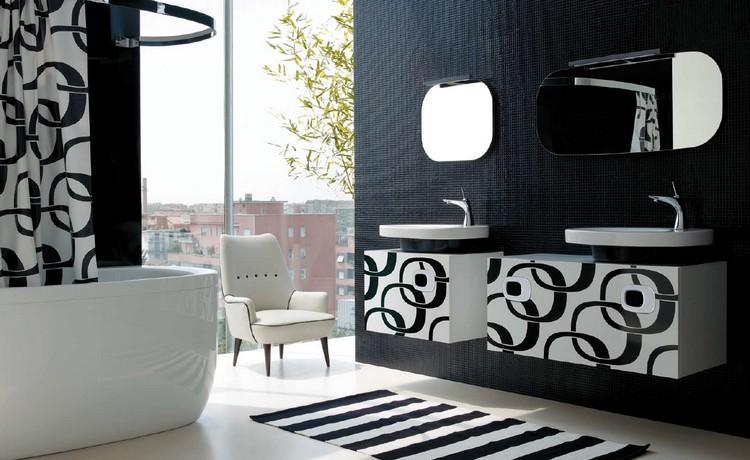 meuble salle de bain noir en 30 idees d