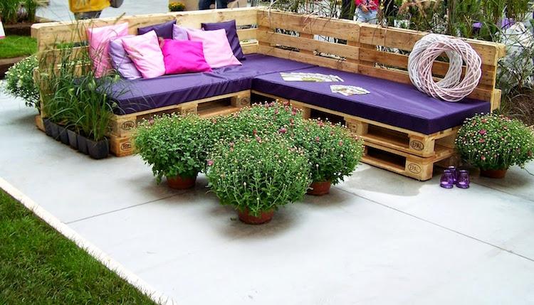 Matelas Pour Palette Bois : Fabriquer Salon De Jardin En Palette De ...