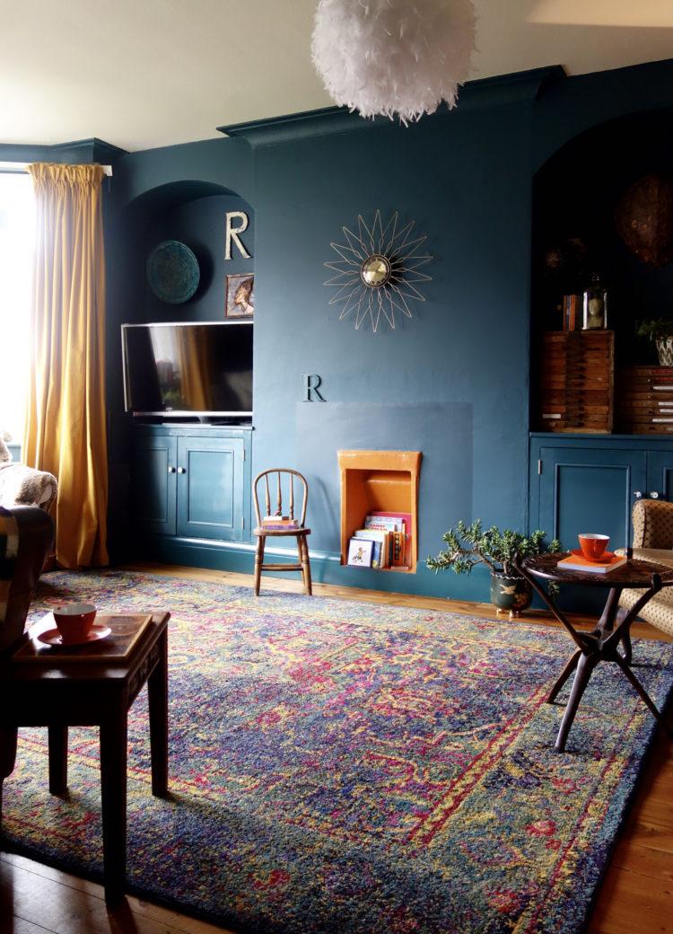 Dco salon bleu ptrole et bleu canard comment en tirer le meilleur parti