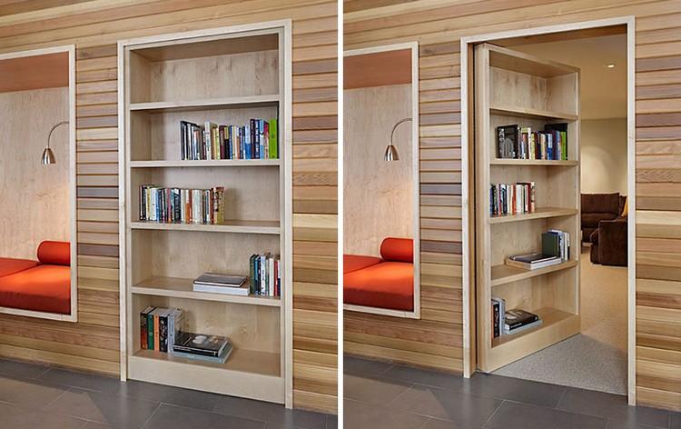 porte bibliotheque cachee bois massif porte bibliotheque qui dissimule un passage secret reveillez l espion en vous