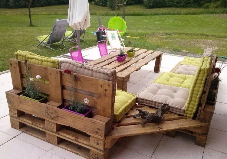 salon de jardin en palette idees diy