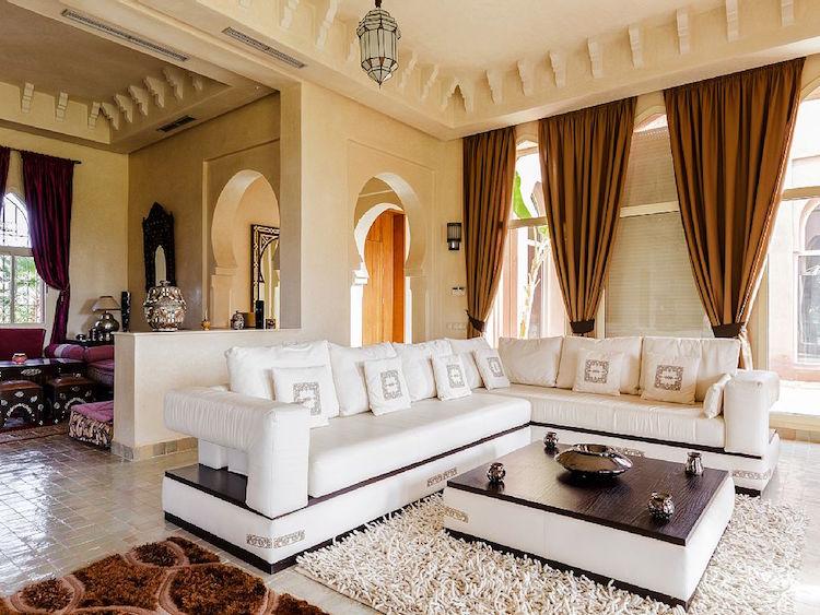 Dcoration salon marocain moderne apporter le climat oriental  lhabitat