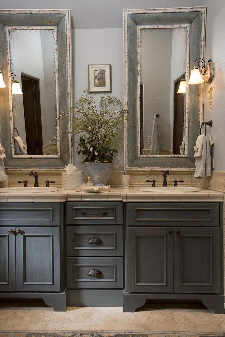 Salle de bain campagne revisite o le moderne et lancien se marient  la perfection