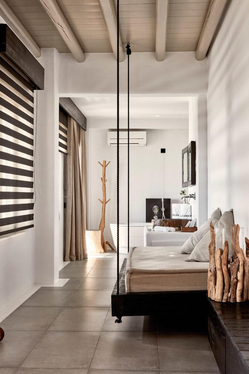Dco bois flott et vue imprenable sur la mer un htel de luxe  Mykonos