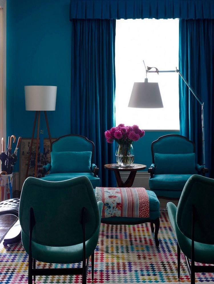 quelle couleur bleu canard bois fonce bleu canard avec quelle couleur pour un interieur deco