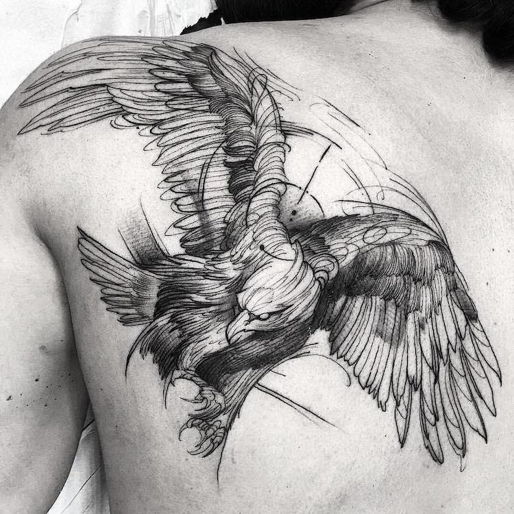 Tatouage Oiseau Passion Pour La Liberté Et Désir De Changement
