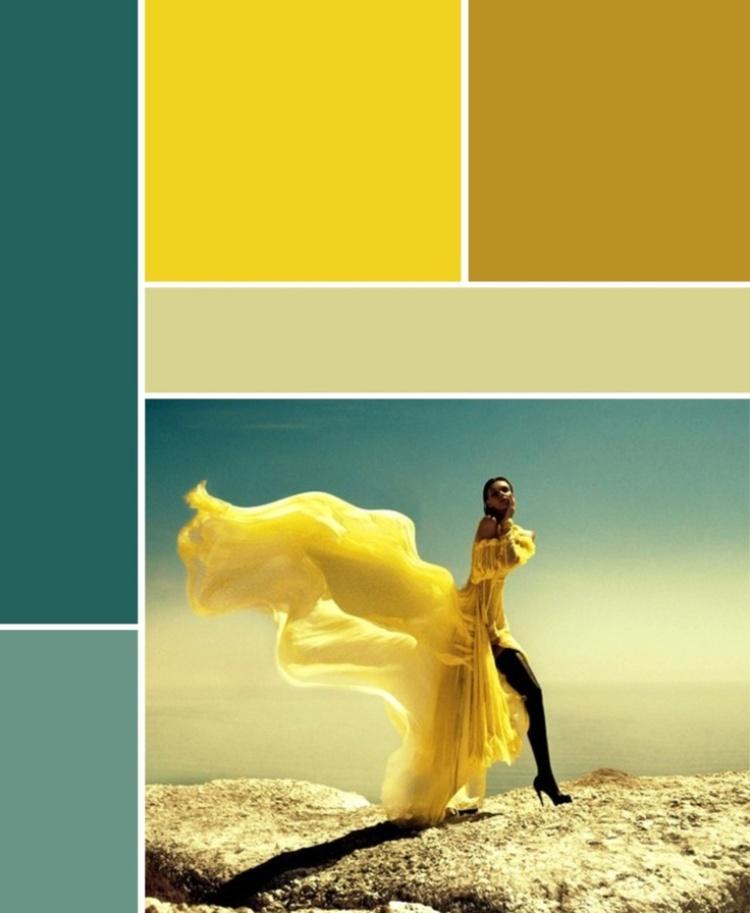 deco bleu canard et jaune qui attise
