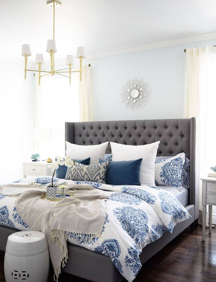 deco chambre adulte sophistiquee tons frais touches exotiques decoration chambre adulte inspiree par les top idees sur pinterest
