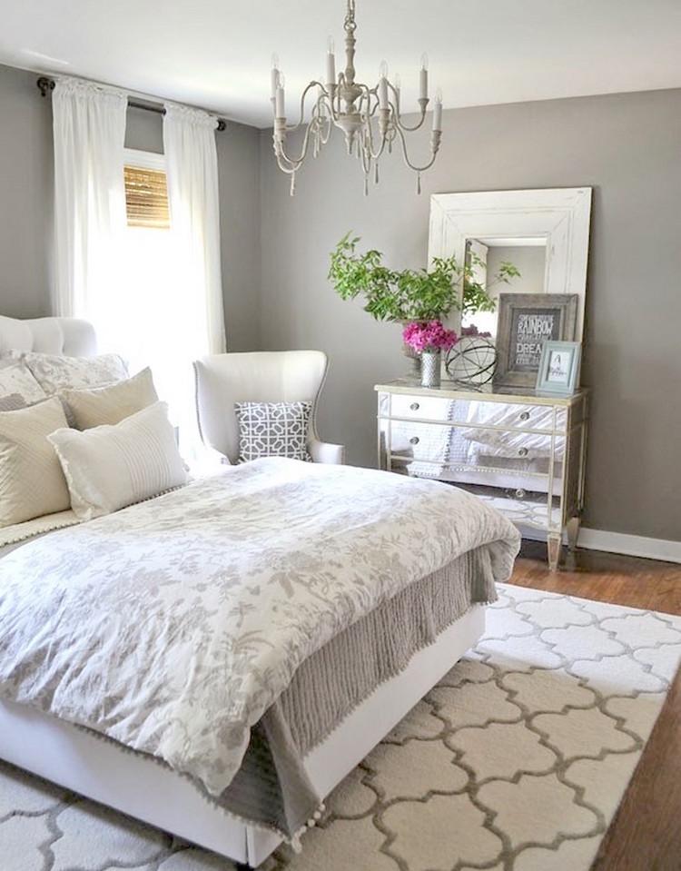 decoration chambre adulte de bon gout gris perle blanc casse decoration chambre adulte inspiree par les top idees sur pinterest