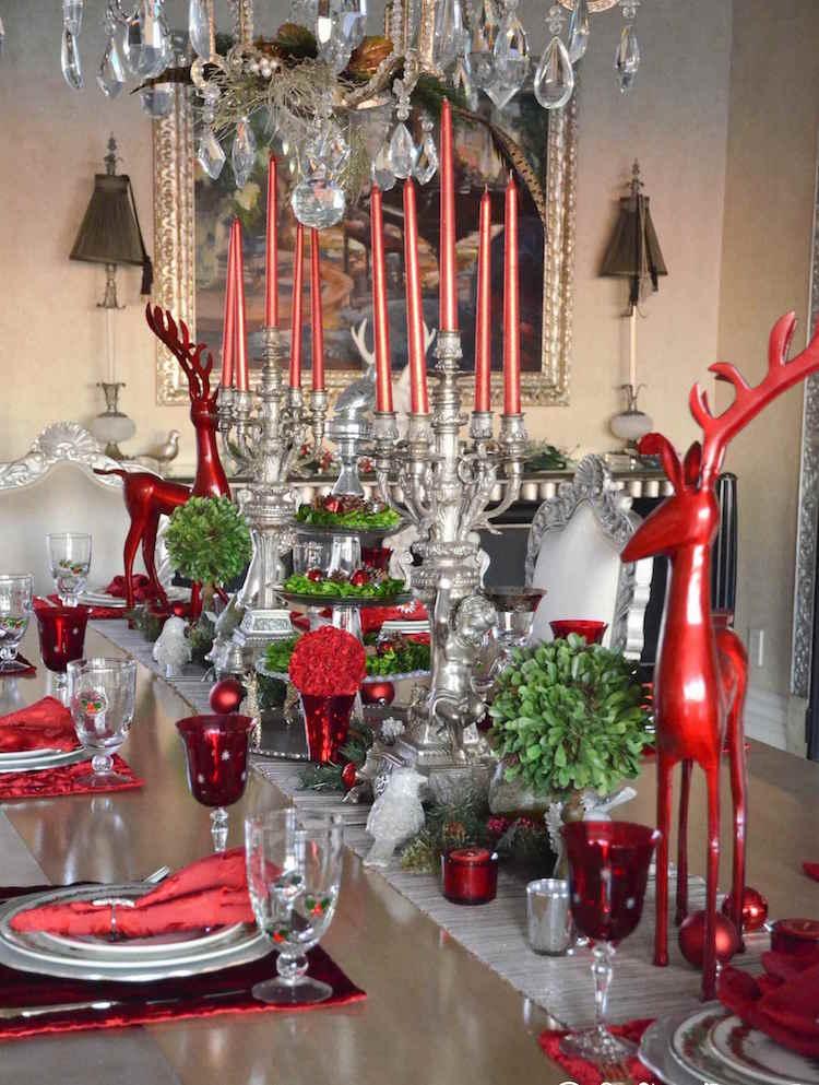 decoration de table noel rouge argent touches verdure 100 idees flambant neuves de decoration de table noel 2017 traditionnelle ou moderne decoration