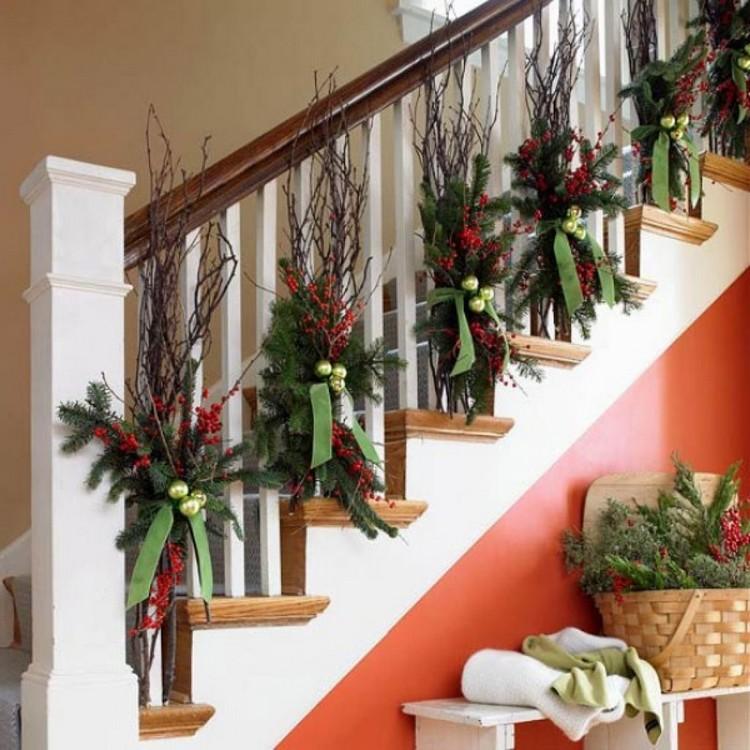 Dcoration escalier Nol  ides inspirantes pour sublimer