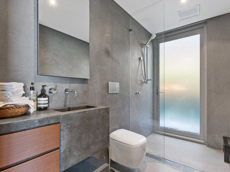 beton cire salle de bain trucs