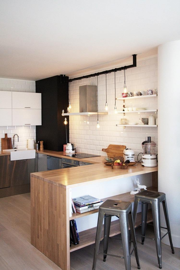 cuisine blanche et bois 40 idees