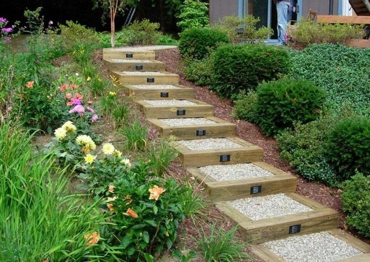 Escalier Exterieur Bois Gravier