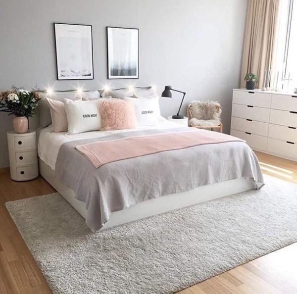 gray and pink twin girl bedroom ideas Chambre ado fille moderne en 50 idées pour un décor génial et cosy!