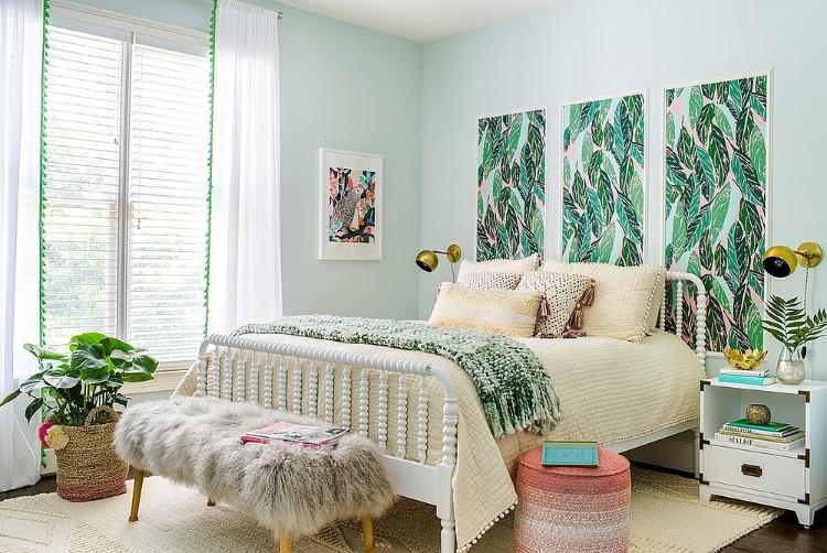 Dco tropicale dans la chambre  coucher pour une ambiance exotique