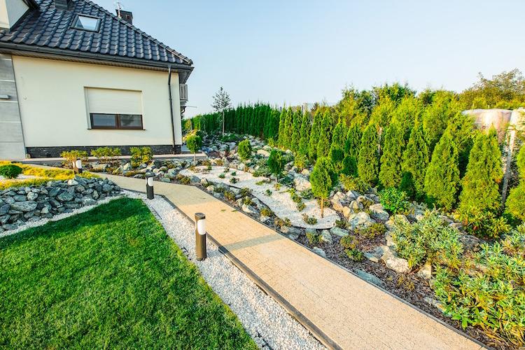 Amnagement jardin devant maison en 50 ides modernes