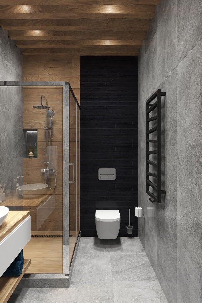 salle de bain gris et bois idees et