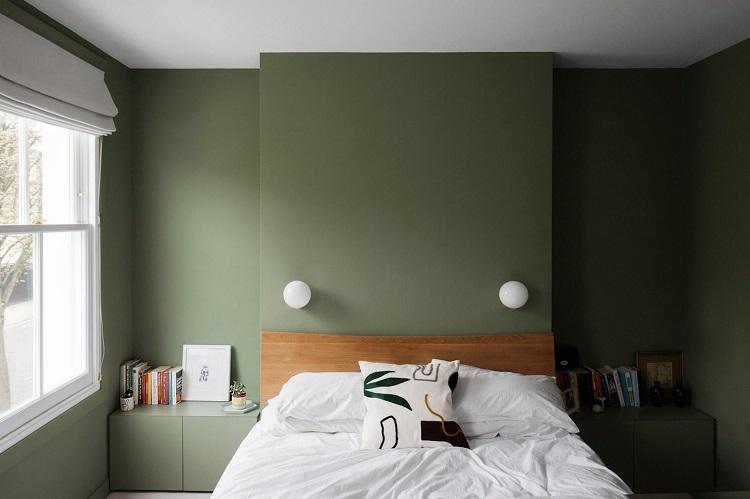 peinture vert olive idees deco pour l
