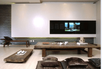 Living room in Japanese style and asian interior design