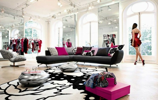 black sofa room ideas houndstooth living furniture 115 modern luxury roche bobois from for and cozy interior