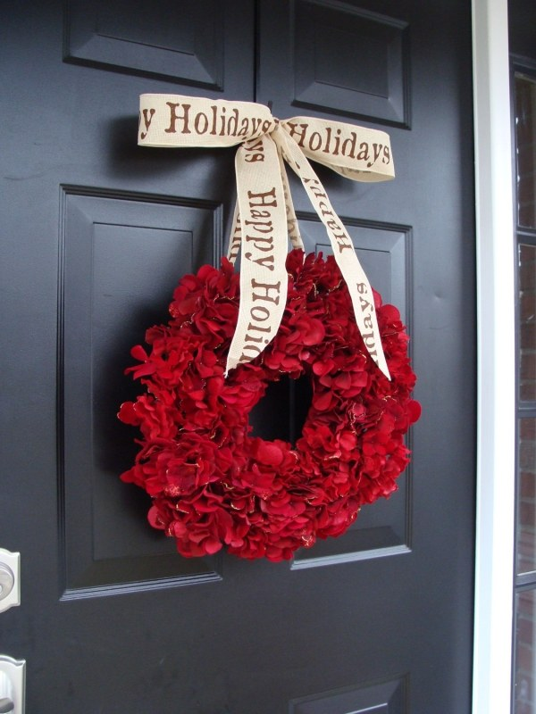 Front Door Christmas Wreath Decorations A Welcome To