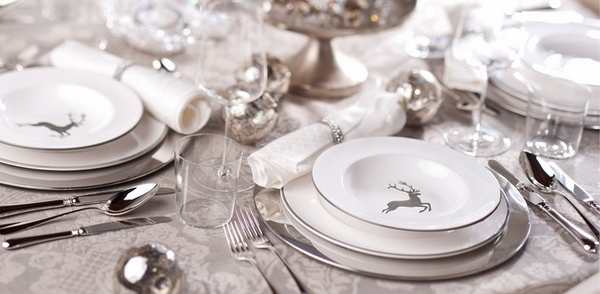 Christmas Table Decorations Silver