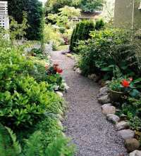 Garden gravel paths design