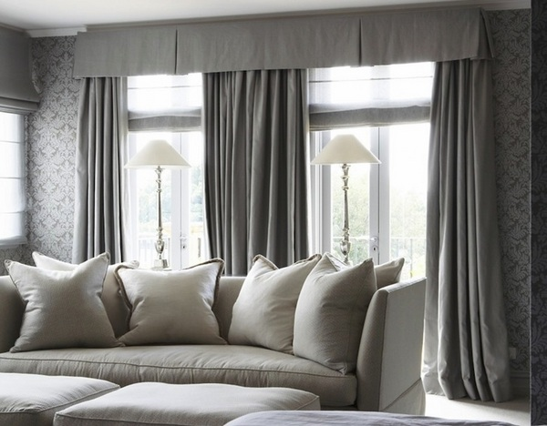 curtains in gray living room narrow ideas with fireplace 50 window valance for the interior design of your home traditional