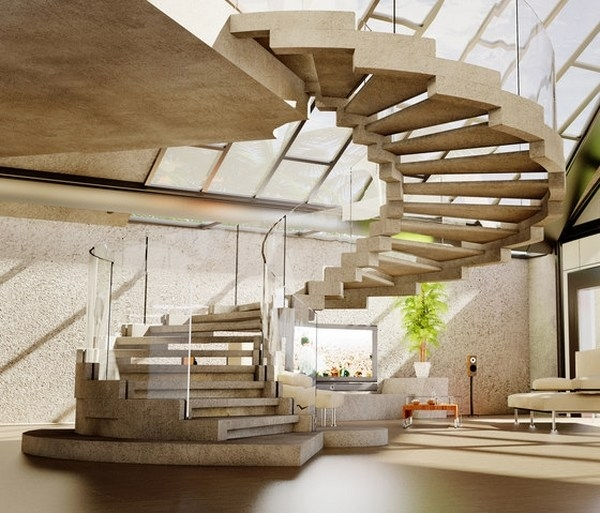 Space Saving Spiral Staircase Ideas For Indoor And Outdoor | Modern Stairs Design Indoor | Contemporary | Concrete | Beautiful Modern | Fancy | Interior