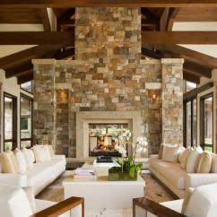 Pictures Of Living Rooms With Stone Fireplaces Green Colors For Warm Up Your Home An Awesome Fireplace Rustic Room White Furniture