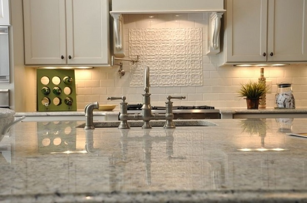 what to use clean kitchen cabinets pub table set the beautiful bianco romano granite countertops in modern ...