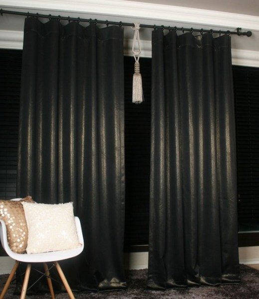 black and gold bedroom curtains Blackout curtains – a cool window treatment for your home