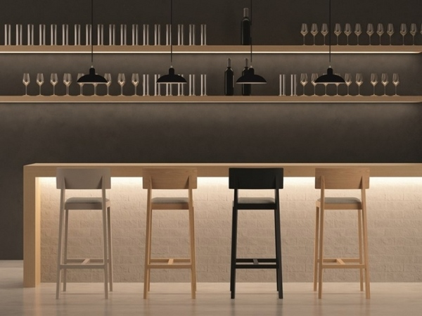 Bar stools in the modern kitchen  decorative furniture pieces