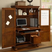 Computer armoire  a useful furniture piece for a small ...