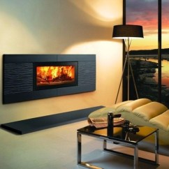 Contemporary Living Room With Electric Fireplace Small Size Furniture Designs For A Cozy Modern Interior Inserts Design
