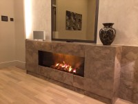Electric fireplace designs for a cozy modern interior