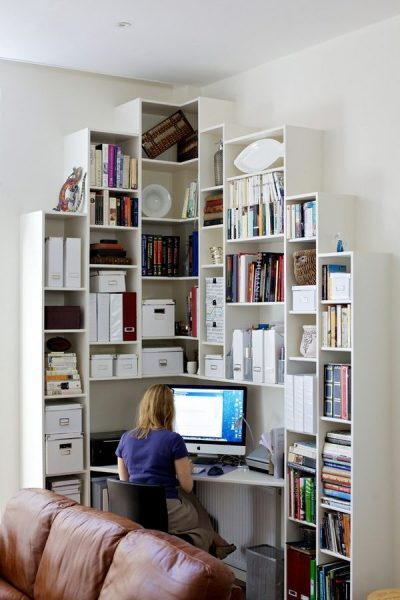 space saving home office idea Corner desk – functional and space saving ideas for the