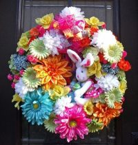 Easter wreaths for the front door  adorable ideas with