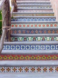 Mexican tiles in the interior  richness of colors and