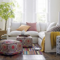 Pouf In Living Room Curtains Ottoman How To Incorporate It The Home Decor Contemporary Sectional Sofa Moroccan Table Ethnic Rug
